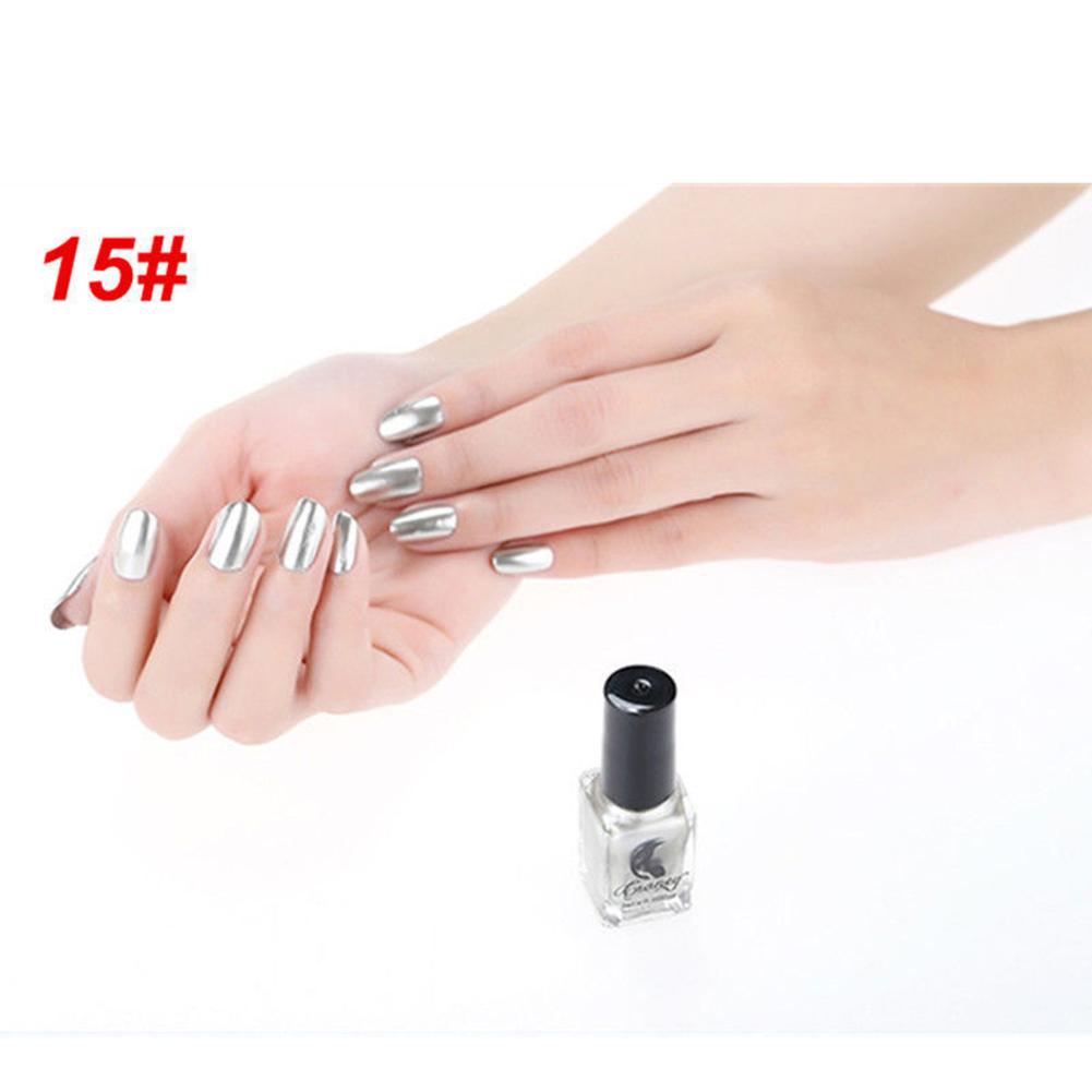 Metálico Metal Esmalte de uñas Mágico Efecto Espejo Cromo Manicura ...