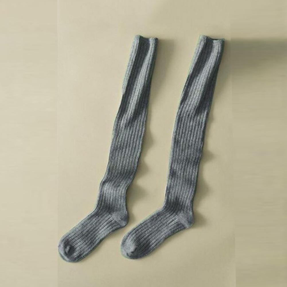 Mujer-Algodon-Extralargo-Calcetin-para-Botas-por-encima-de-Rodilla-la