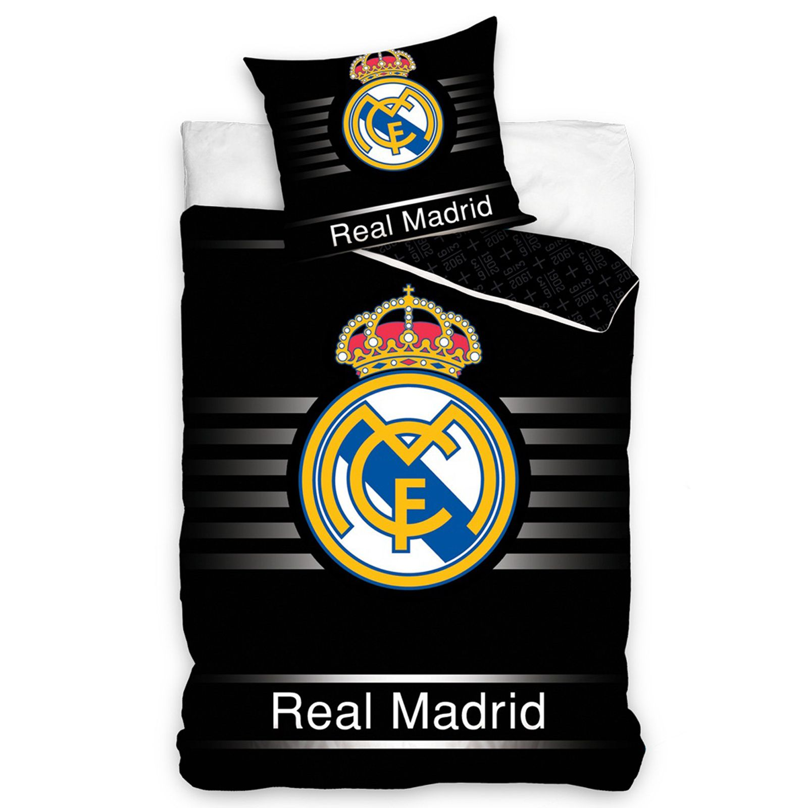 Oficial real madrid individual doble funda de edred n football ropa de cama ebay - Fundas del real madrid ...