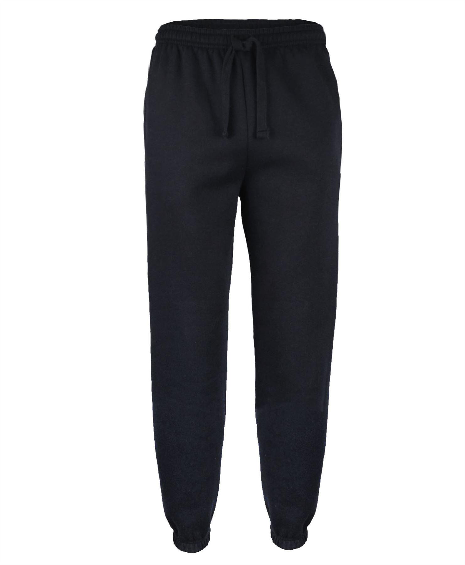 hommes uni jogging pantalon lastique cheville pantalon de surv tement polaire ebay. Black Bedroom Furniture Sets. Home Design Ideas