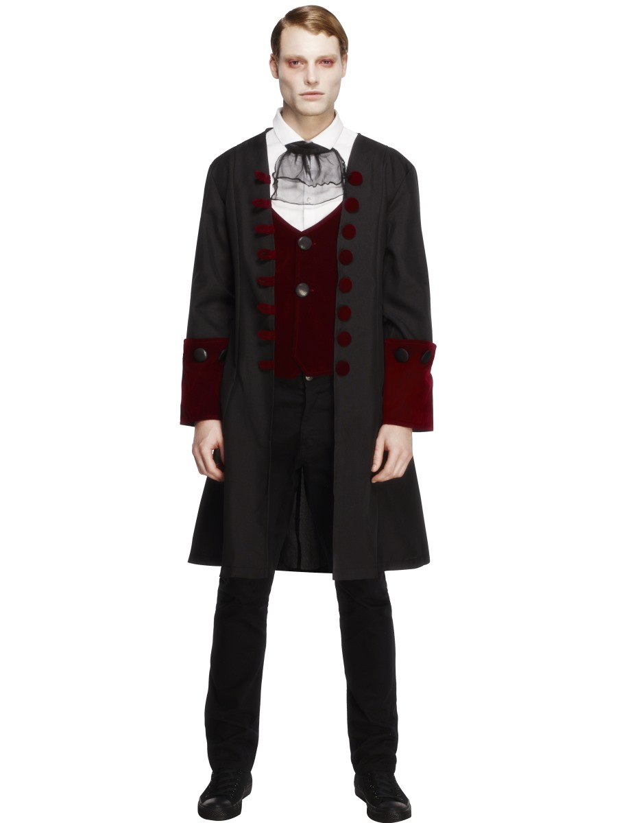 adult vampire costume halloween dracula horror mens fancy dress