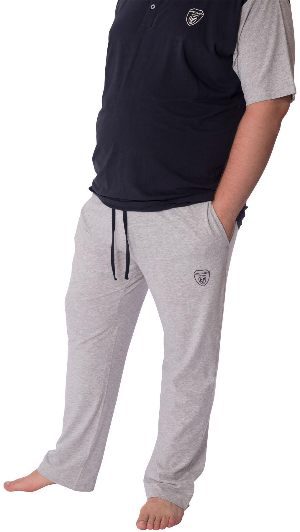 Loyalty-amp-foi-GRAND-HOMMES-pyjama-pantalon-manche-courte-haut-grande-taille