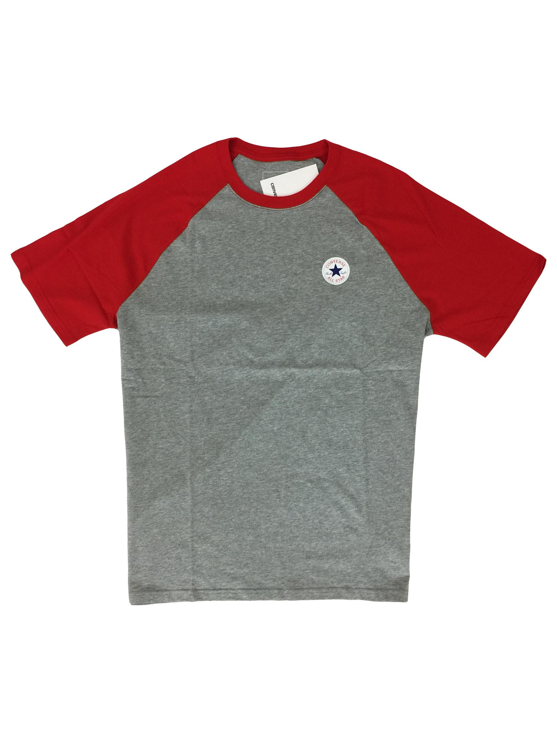 Detalles de Converse All Star hombre camiseta algodón en rojo GRIS XL