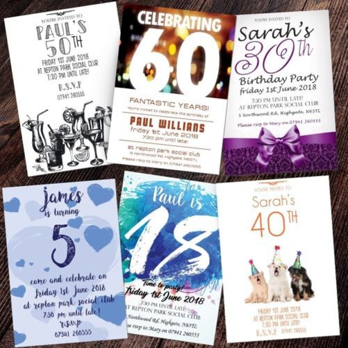 Personalised birthday invitations party invites 18th 21st 30th 40th image is loading personalised birthday invitations party invites 18th 21st 30th filmwisefo