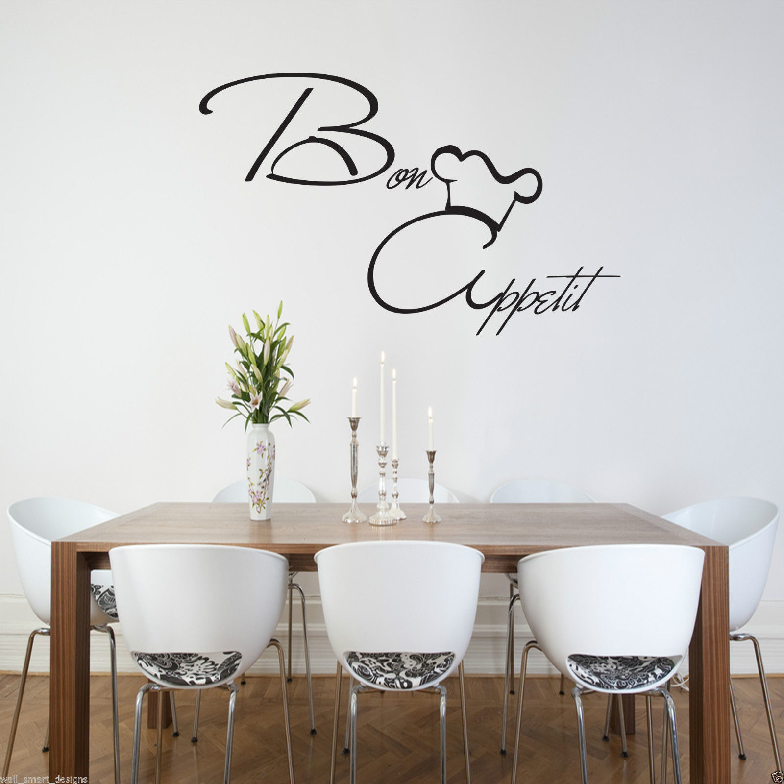 Wall art kitchen quotes - Bon Appetit Wall Art Sticker Kitchen Vinyl Quote Decal Mural Stencil Transfer