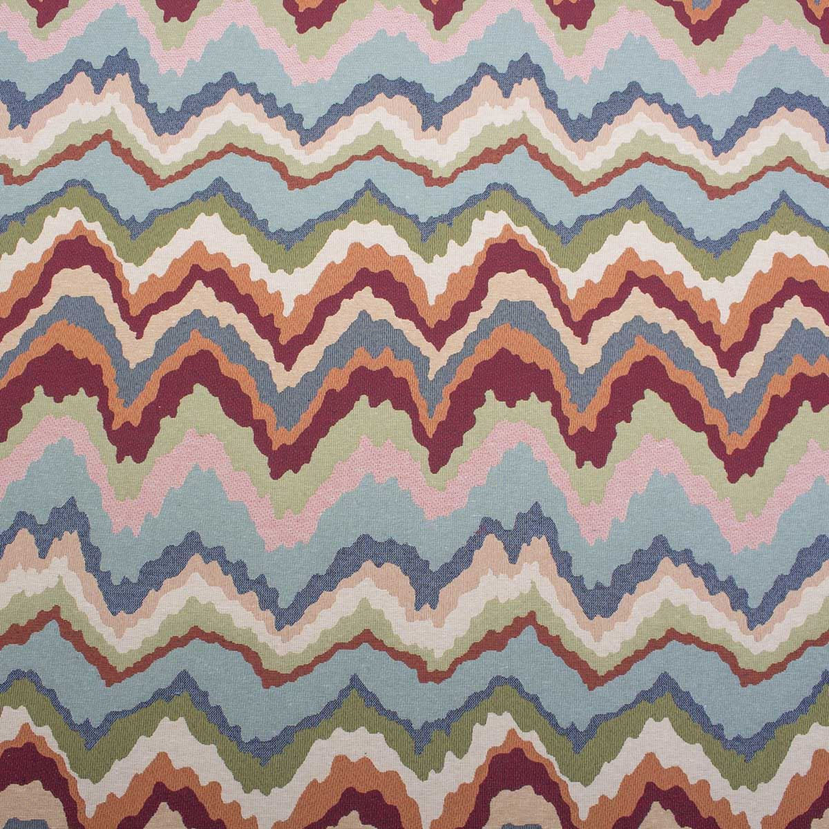 Colourful waves Fabric 80/% Cotton 20/% Poly material metre upholstery feel piece