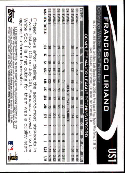 2012-Topps-Actualizacion-Beisbol-US1-US230-Usted-Recoger miniatura 3