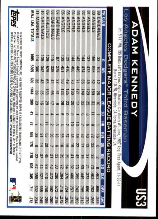 2012-Topps-Actualizacion-Beisbol-US1-US230-Usted-Recoger miniatura 5
