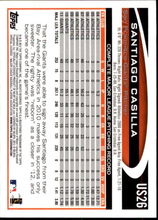 2012-Topps-Actualizacion-Beisbol-US1-US230-Usted-Recoger miniatura 38