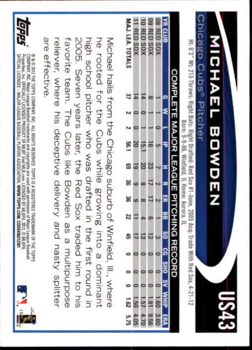 2012-Topps-Actualizacion-Beisbol-US1-US230-Usted-Recoger miniatura 65