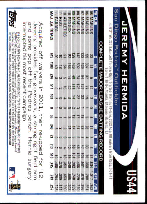 2012-Topps-Actualizacion-Beisbol-US1-US230-Usted-Recoger miniatura 67