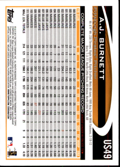 2012-Topps-Actualizacion-Beisbol-US1-US230-Usted-Recoger miniatura 77