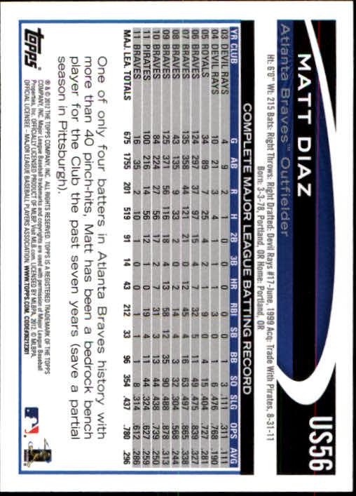 2012-Topps-Actualizacion-Beisbol-US1-US230-Usted-Recoger miniatura 89