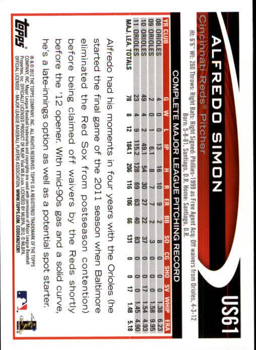 2012-Topps-Actualizacion-Beisbol-US1-US230-Usted-Recoger miniatura 97