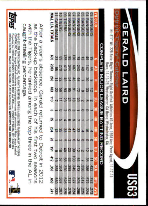 2012-Topps-Actualizacion-Beisbol-US1-US230-Usted-Recoger miniatura 99