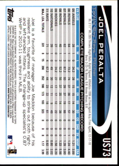 2012-Topps-Actualizacion-Beisbol-US1-US230-Usted-Recoger miniatura 109