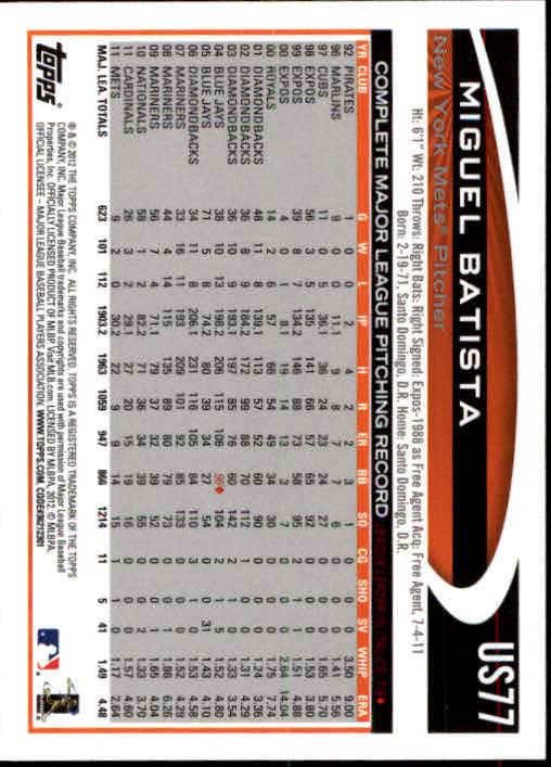 2012-Topps-Actualizacion-Beisbol-US1-US230-Usted-Recoger miniatura 117