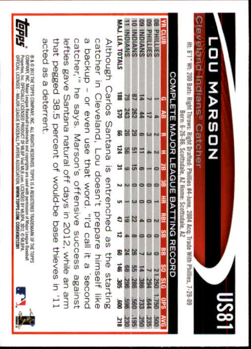 2012-Topps-Actualizacion-Beisbol-US1-US230-Usted-Recoger miniatura 123