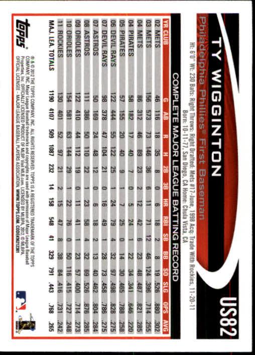 2012-Topps-Actualizacion-Beisbol-US1-US230-Usted-Recoger miniatura 125