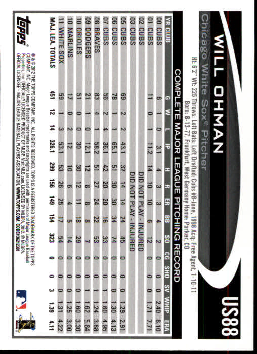 2012-Topps-Actualizacion-Beisbol-US1-US230-Usted-Recoger miniatura 129