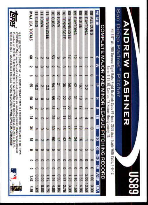 2012-Topps-Actualizacion-Beisbol-US1-US230-Usted-Recoger miniatura 131