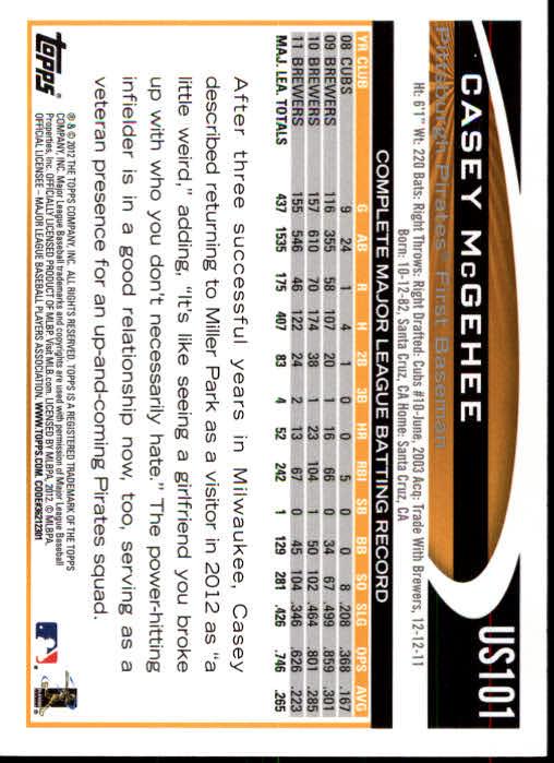 2012-Topps-Actualizacion-Beisbol-US1-US230-Usted-Recoger miniatura 149