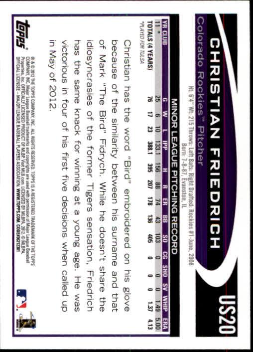 2012-Topps-Actualizacion-Beisbol-US1-US230-Usted-Recoger miniatura 29