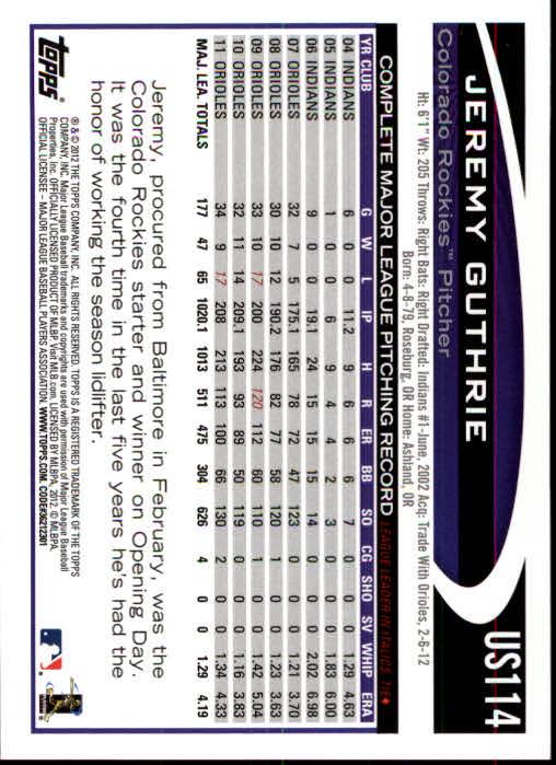 2012-Topps-Actualizacion-Beisbol-US1-US230-Usted-Recoger miniatura 161