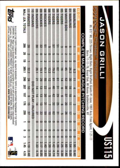 2012-Topps-Actualizacion-Beisbol-US1-US230-Usted-Recoger miniatura 163