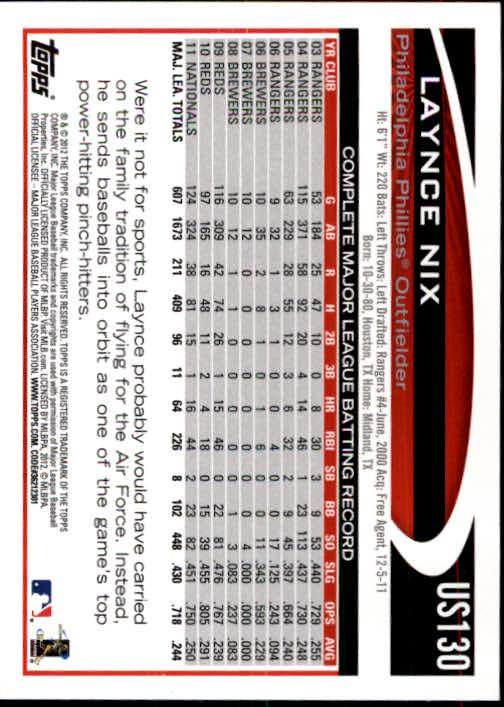 2012-Topps-Actualizacion-Beisbol-US1-US230-Usted-Recoger miniatura 183