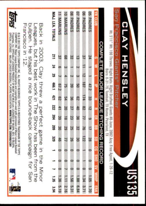 2012-Topps-Actualizacion-Beisbol-US1-US230-Usted-Recoger miniatura 187