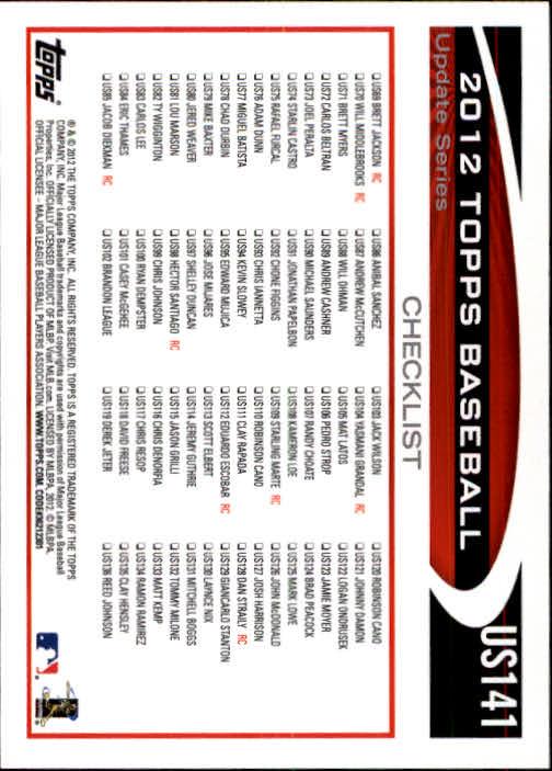 2012-Topps-Actualizacion-Beisbol-US1-US230-Usted-Recoger miniatura 195