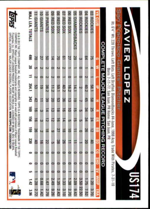 2012-Topps-Actualizacion-Beisbol-US1-US230-Usted-Recoger miniatura 234