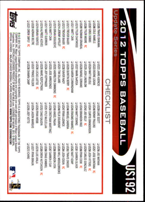 2012-Topps-Actualizacion-Beisbol-US1-US230-Usted-Recoger miniatura 258