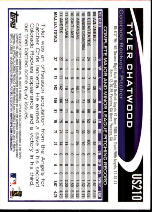 2012-Topps-Actualizacion-Beisbol-US1-US230-Usted-Recoger miniatura 290