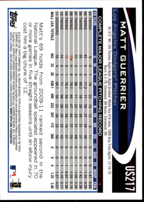 2012-Topps-Actualizacion-Beisbol-US1-US230-Usted-Recoger miniatura 302
