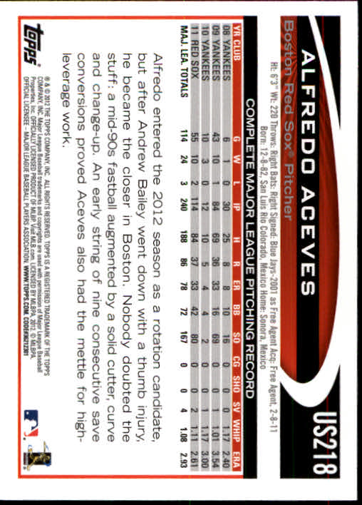 2012-Topps-Actualizacion-Beisbol-US1-US230-Usted-Recoger miniatura 304