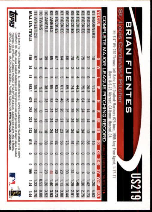 2012-Topps-Actualizacion-Beisbol-US1-US230-Usted-Recoger miniatura 306