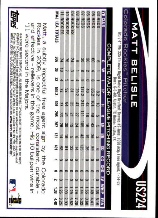 2012-Topps-Actualizacion-Beisbol-US1-US230-Usted-Recoger miniatura 310