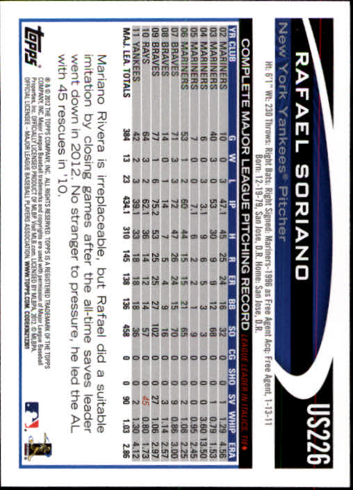2012-Topps-Actualizacion-Beisbol-US1-US230-Usted-Recoger miniatura 314
