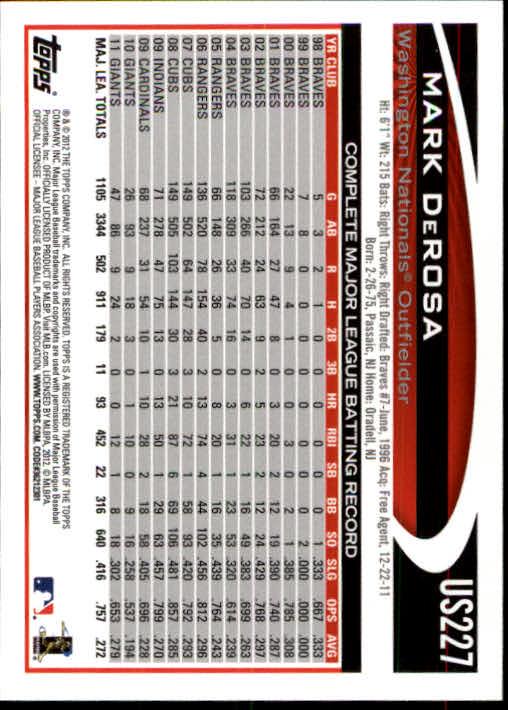 2012-Topps-Actualizacion-Beisbol-US1-US230-Usted-Recoger miniatura 316