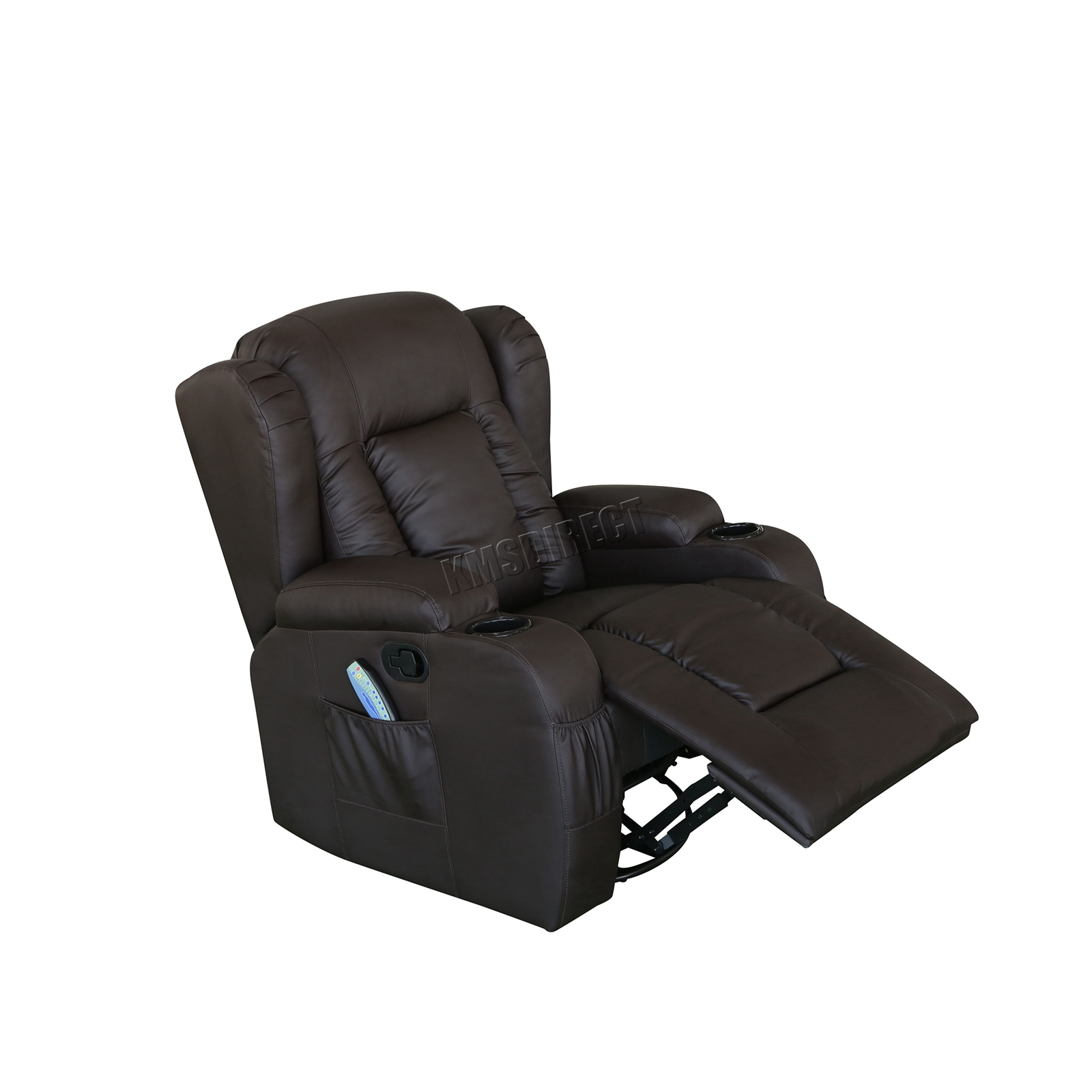 WESTWOOD-Leather-Recliner-Armchair-Swivel-Heated-chair-Massage-Gaming-Chair thumbnail 29