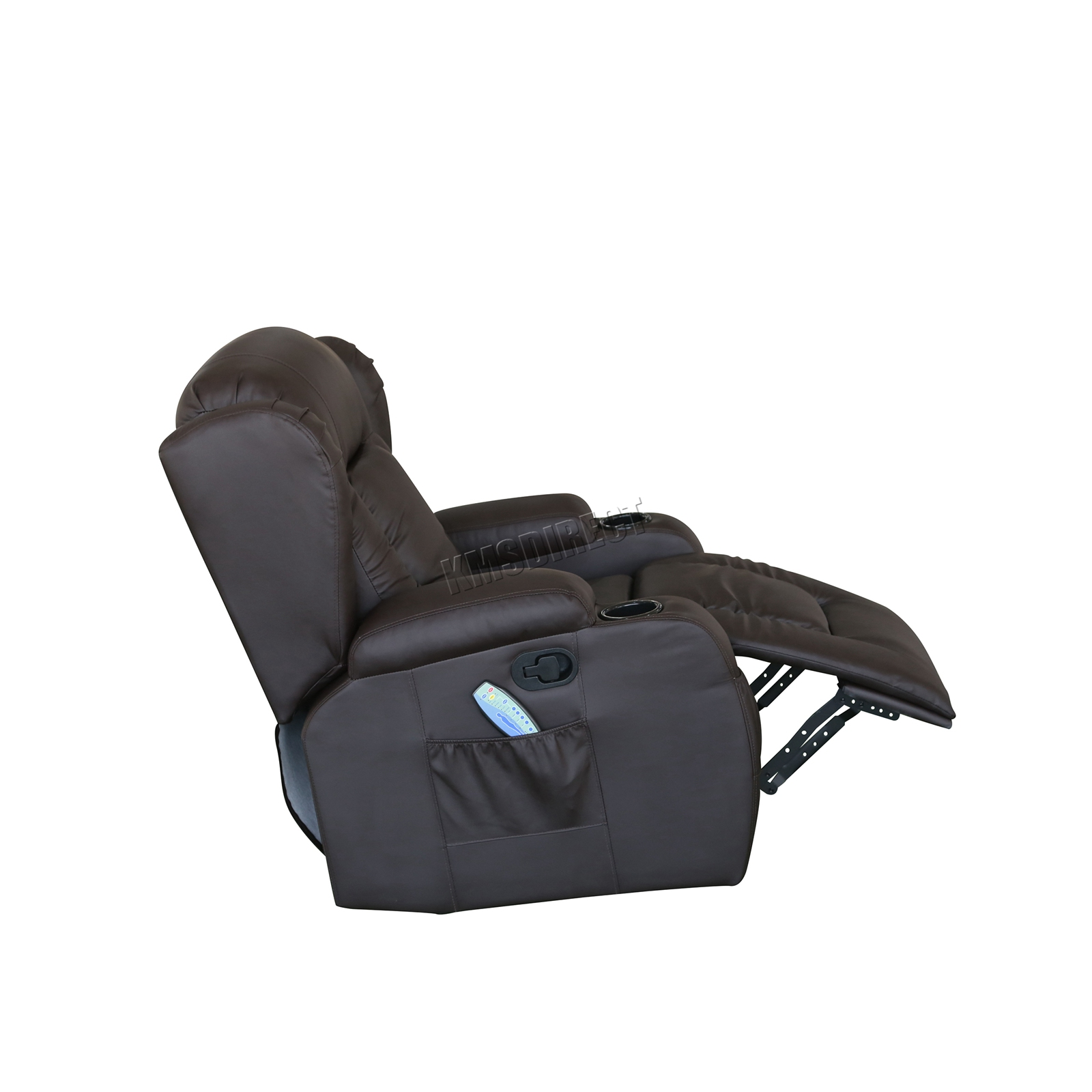 WESTWOOD-Leather-Recliner-Armchair-Swivel-Heated-chair-Massage-Gaming-Chair thumbnail 30