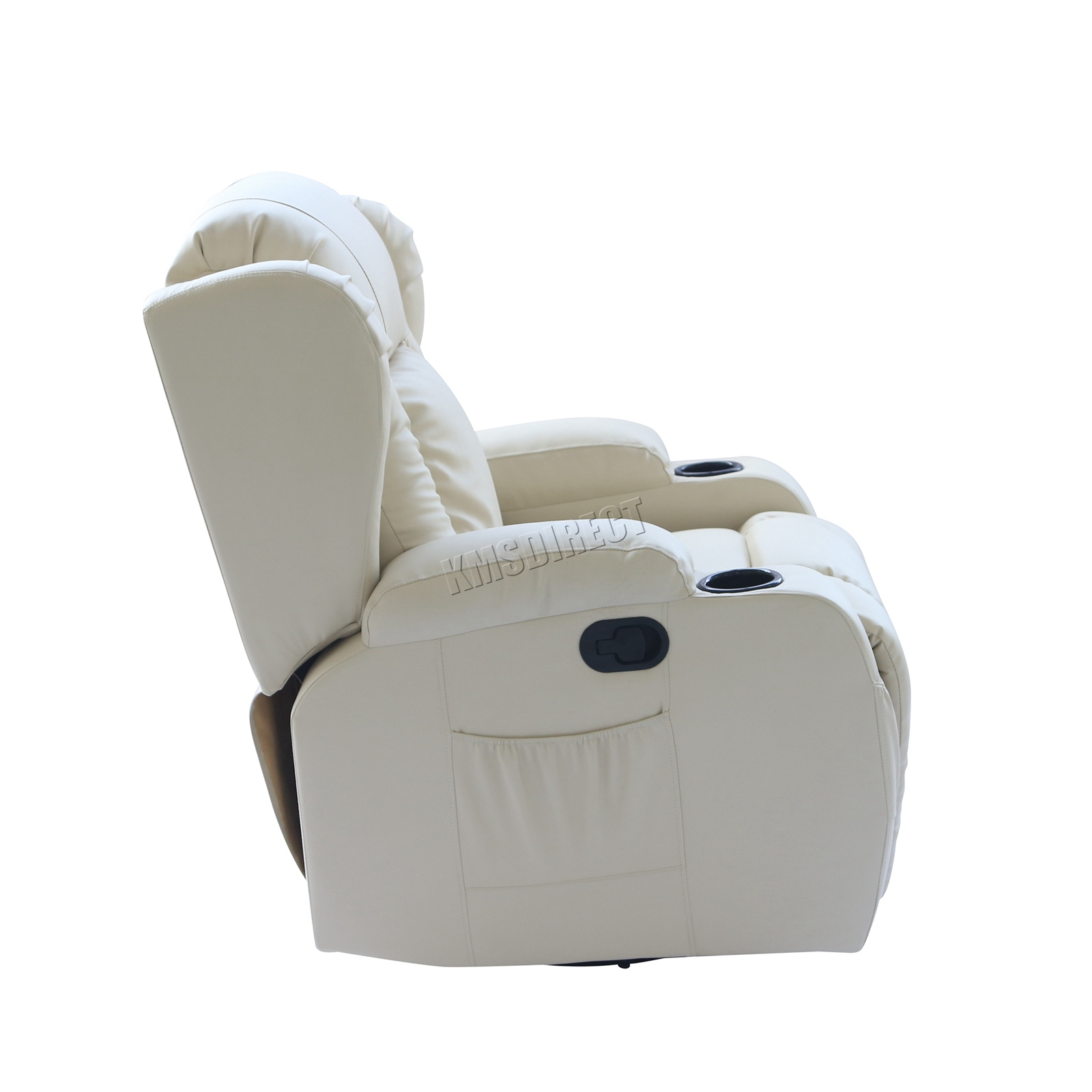 WESTWOOD-Leather-Recliner-Armchair-Swivel-Heated-chair-Massage-Gaming-Chair thumbnail 38