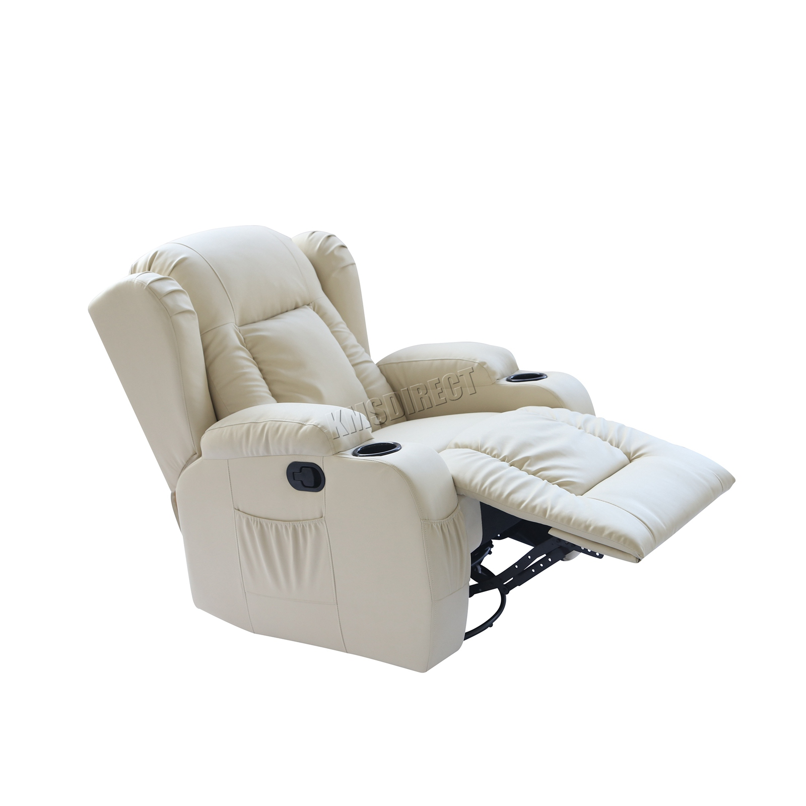 WESTWOOD-Leather-Recliner-Armchair-Swivel-Heated-chair-Massage-Gaming-Chair thumbnail 41