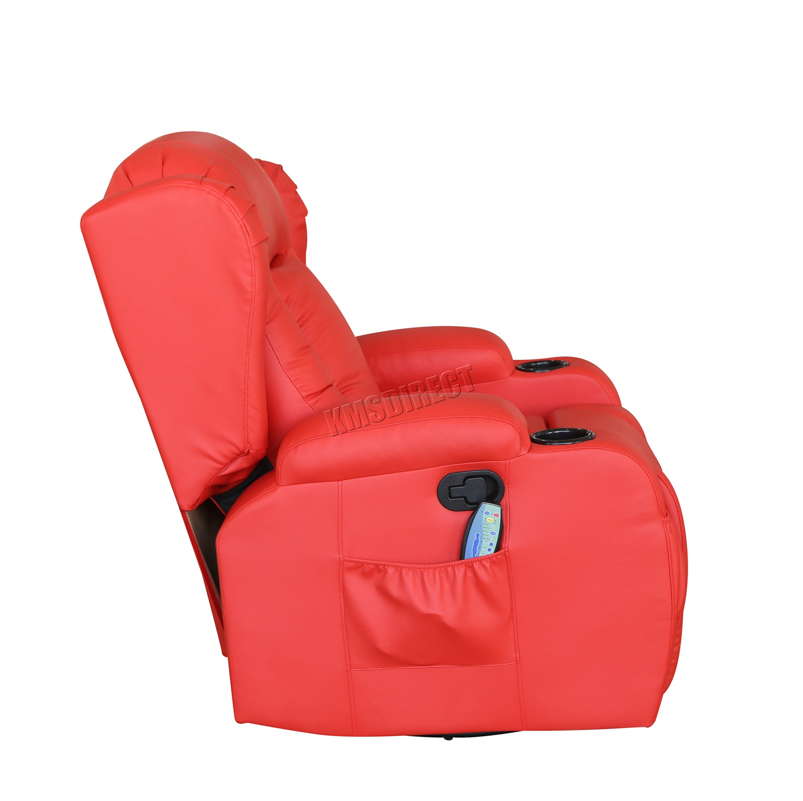 WESTWOOD-Leather-Recliner-Armchair-Swivel-Heated-chair-Massage-Gaming-Chair thumbnail 49