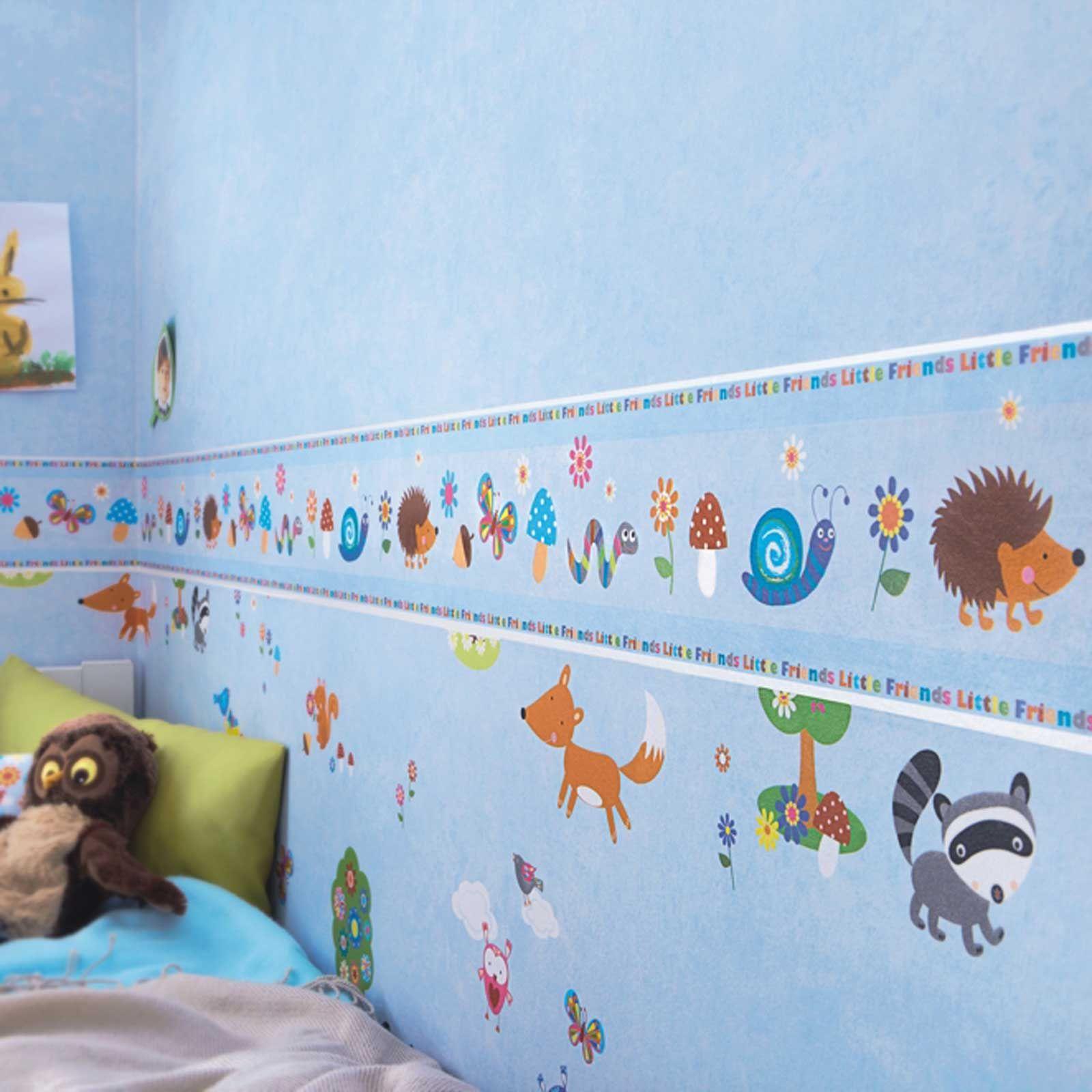 Ni a gen rico dormitorio cenefas papel pintado mariposa for Cenefas papel pintado