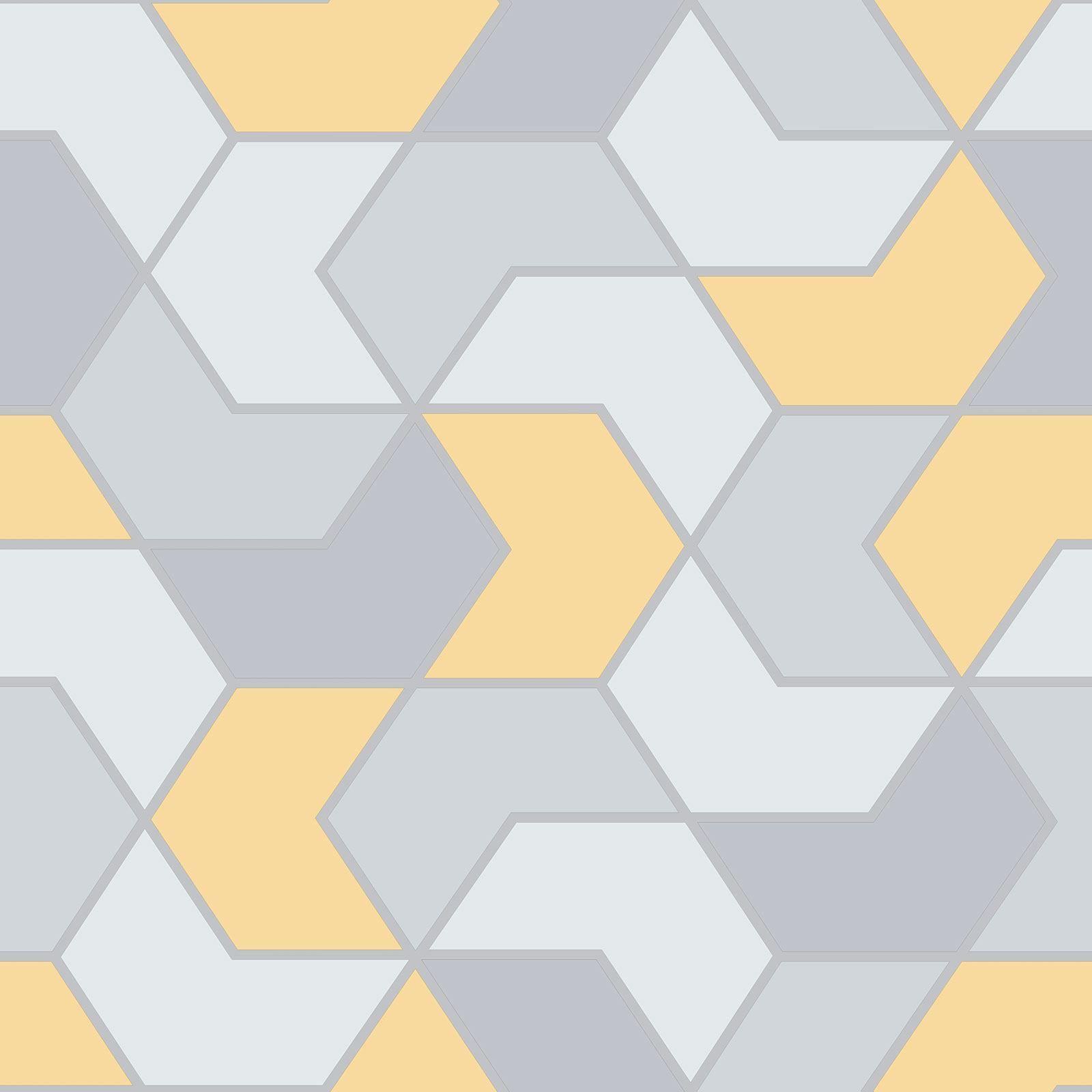 Indexbild 4 - RASCH Portfolio Sechskant Geometrische Tapete Glitzer Metallisch - Rose Gold