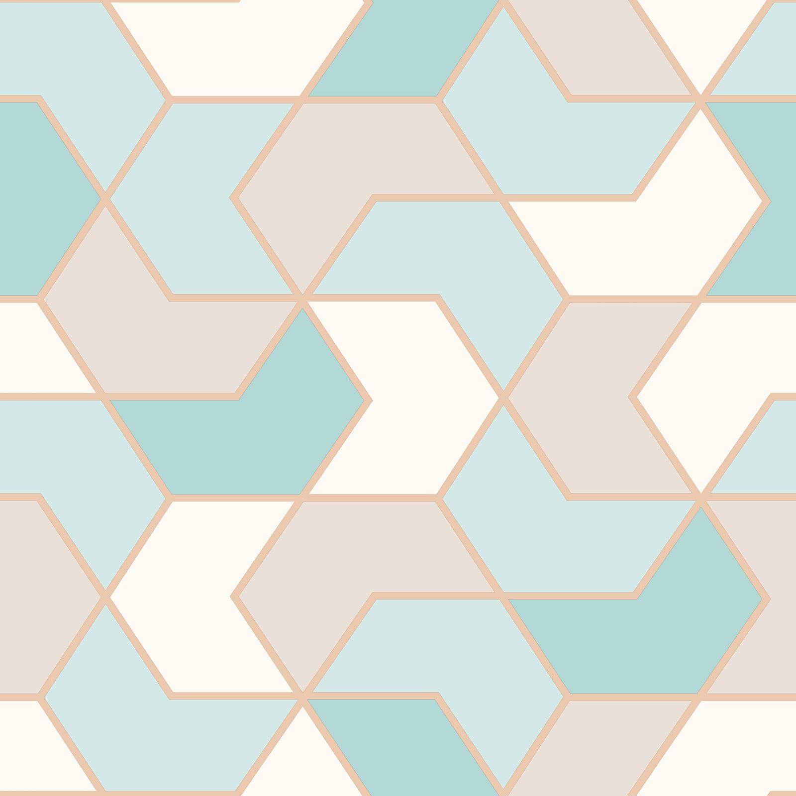 Indexbild 8 - RASCH Portfolio Sechskant Geometrische Tapete Glitzer Metallisch - Rose Gold