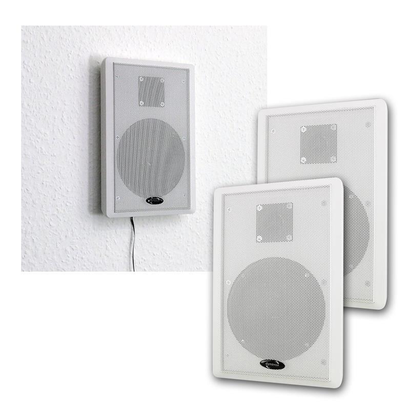 flat loud speaker stereo flat panel wand lautsprecher speakers slim flat panel ebay. Black Bedroom Furniture Sets. Home Design Ideas